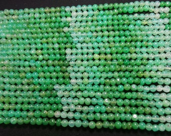 Chrysoprase smooth beads,good quality,13 inch