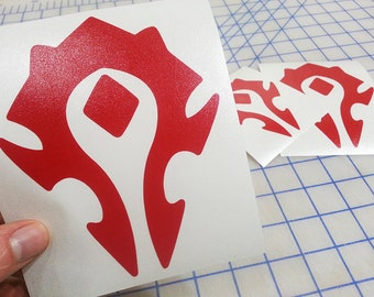 World of Warcraft Horde decal.. WoW Horde decal.. WoW Horde sticker.. World of Warcraft Horde sticker.. WoW sticker.. WoW decal..