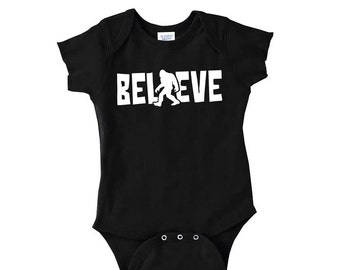 Sasquatch Onesie.. Believe Onesie.. Bigfoot Onesie.. Sasquatch Believe Onesie.. Baby Bigfoot Onesie.. Bigfoot Baby Bodysuit..