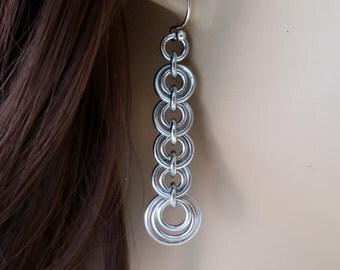 Double O Chainmaille Earrings, Chainmaille earrings, Chainmail earrings, Chain mail earrings, chain maille earrings
