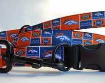 Dog leash, matching collar leash, durable training leashes w/ hearts, paws, paisley, dots, dogs, Broncos, Blackhawks, NFL, and more