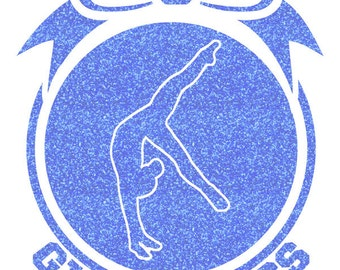 Gymnastics Bow Iron On Decal