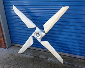 REDUCED Vintage Sonica innovations ceiling fan airplane wing propellers style space age