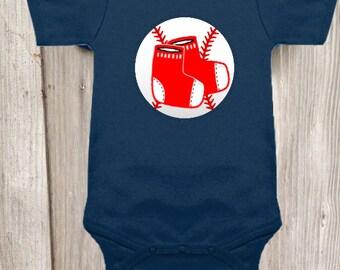 Boston Red Socks Inspired Bodysuit for Baby Boy
