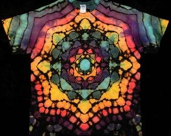 Men's XL Mandala Reverse Tie Dye T Shirt