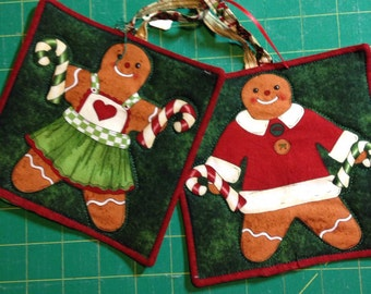 Set of Two Gingerbread Potholders