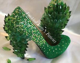 Emerald City, WICKED, Wizard of Oz, Pinup style, kawaii girl, made to order shoes