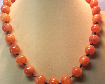 Vintage Dark Amber Les Bernard Necklace