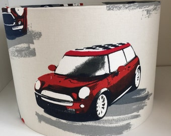 Medium Red Mini Cooper Ceiling Lampshade 30cm