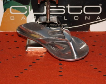 Mid-Century Modern Stainless Unmarked Faux Flip Flop