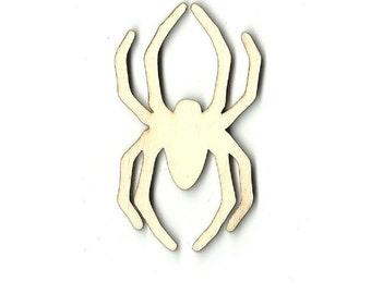 Spider - Laser Cut Out Unfinished Wood Shape Craft  Supply BUG1