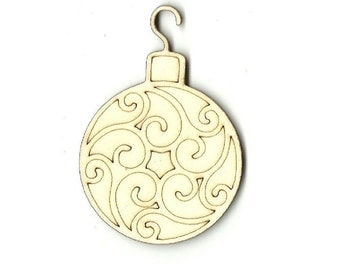 Christmas Ornament - Laser Cut Out Unfinished Wood Shape Craft Supply XMS21