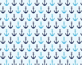Blue Nautical Ship Anchors Backdrop (FD2243)