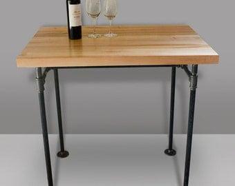Butcher Block Table U0026 Cast Iron Pipe