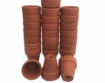 "50 - 2.5"" x 2.25"" Clay Pots - Great for Plants and Crafts"