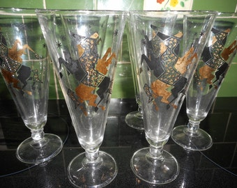 Set of Mid-Century Pilsner Glasses