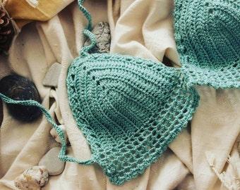 Handmade knitting bikini