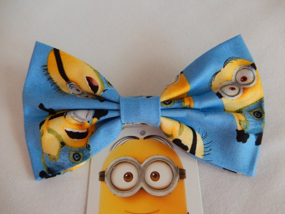 Minion Inspired Blue hair bow Handmade Hair Accessory