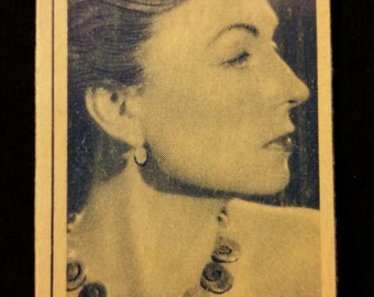 Original 1947 Agnes Moorehead Turf Cigarette Card, Warner Bros, Vintage, Hollywood, Star, Movie, Poster