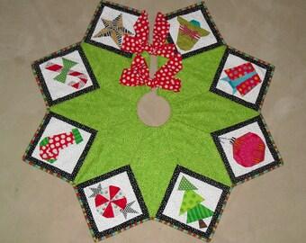 Christmas Tree Skirt Sampler Pattern