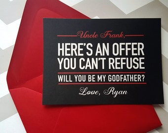 Godfather Card | Will you be my Godfather card | Here's an offer you can't refuse