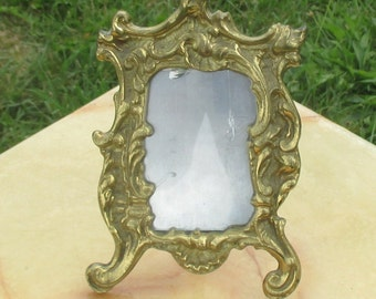 Beautiful Antique Brass Picture Frame Ornate