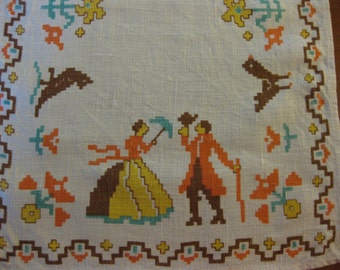 Thanksgiving Colored Napkins - Happy Couple and Animals