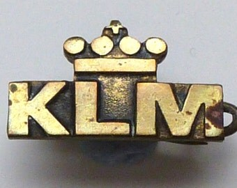 KLM airline lapel badge