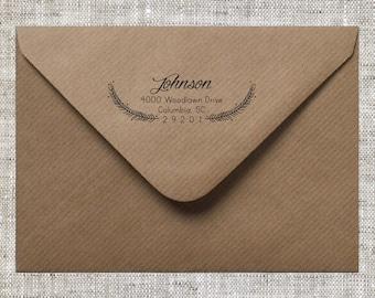 Laurel Return Address Stamp