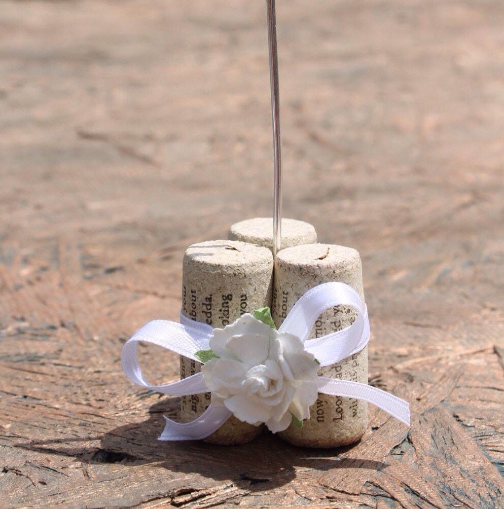 Wine Cork Table Numbers: Wine Cork Table Number Holder. Set Of 10. Weddings Or