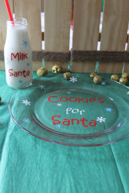 Cookies For Santa Plate And Milk For Santa Bottle Fun