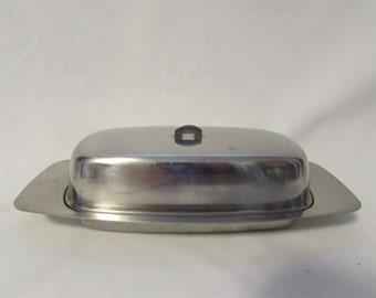 Butter Dish, Stainless Steel, Danish Modern, Denmark