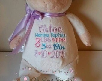 Personalized Embroidered Stuffed Lamb