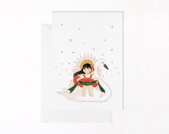 CHRISTMAS GREETINGS CARDS: Ange de Noël Christmas Angel