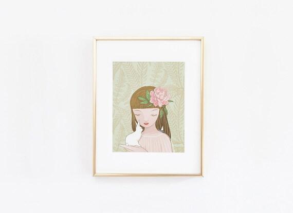 Lady Marie Illustration Poster Art Print