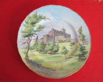 Royal Worcester Cabinet Plate Bothal Castle by Nigel Creed