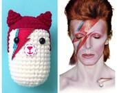 David Bowie Cat Plush