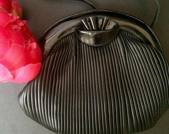 Silvano Biagini Evening Pleated Leather Bag