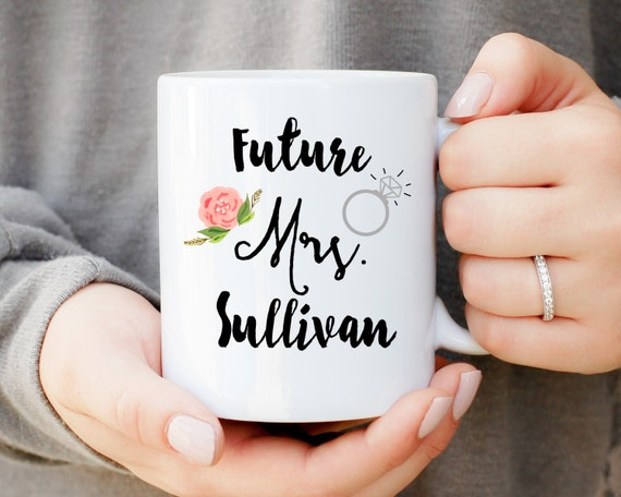 Future Mrs. Mug, Does This Ring Make Me Look Engaged Mug, Engagement Gift, Wedding Gift, Gift for Bride, Ring Mug, Bride Proposal Present