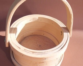 Vintage split pine basket