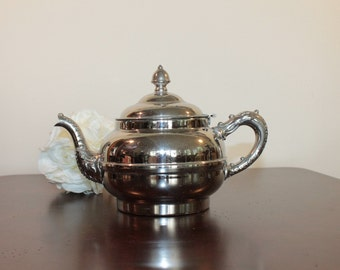 Ornate Metal Tea Pot – Stamped Rochester – Nickel over Copper – possibly 1920's