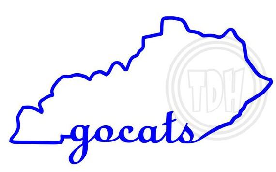 Uk Basketball Clip Art: Digital Download Kentucky Go Cats Outline By