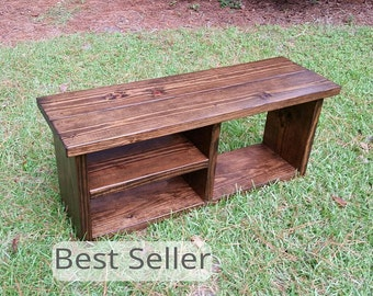 Entryway Storage Bench, Mudroom Bench, Farmhouse Bench, Rustic Bench, Bench With Storage