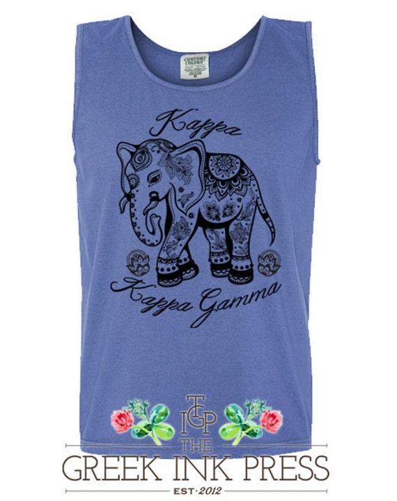 Items similar to the henna elephant custom sorority t for Custom sorority t shirts