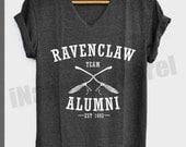 Team Ravenclaw Alumni Shirt Harry Potter Shirts V-Neck Unisex S M L