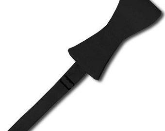 Solid Self-Tie Black Bow Tie