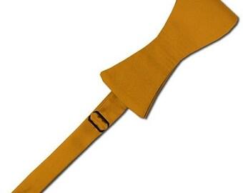 Solid Self-Tie Gold Bar Bow Tie