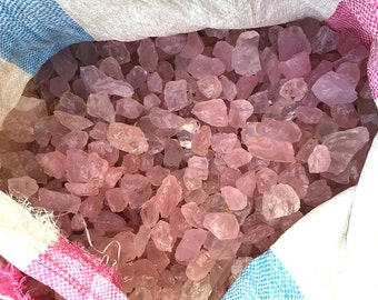 On sale!!! Raw Rough Large Natural Rose Quartz Crystal Loose Stone Pink Crystals Quartz Nugget Loose Gemstone Mineral Sample Healing Crystal