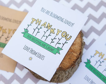 Personalised Thank You Seed Packets