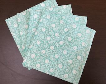 Hand printed table napkins